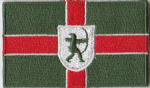 Nottinghamshire Embroidered Flag Patch, style 04